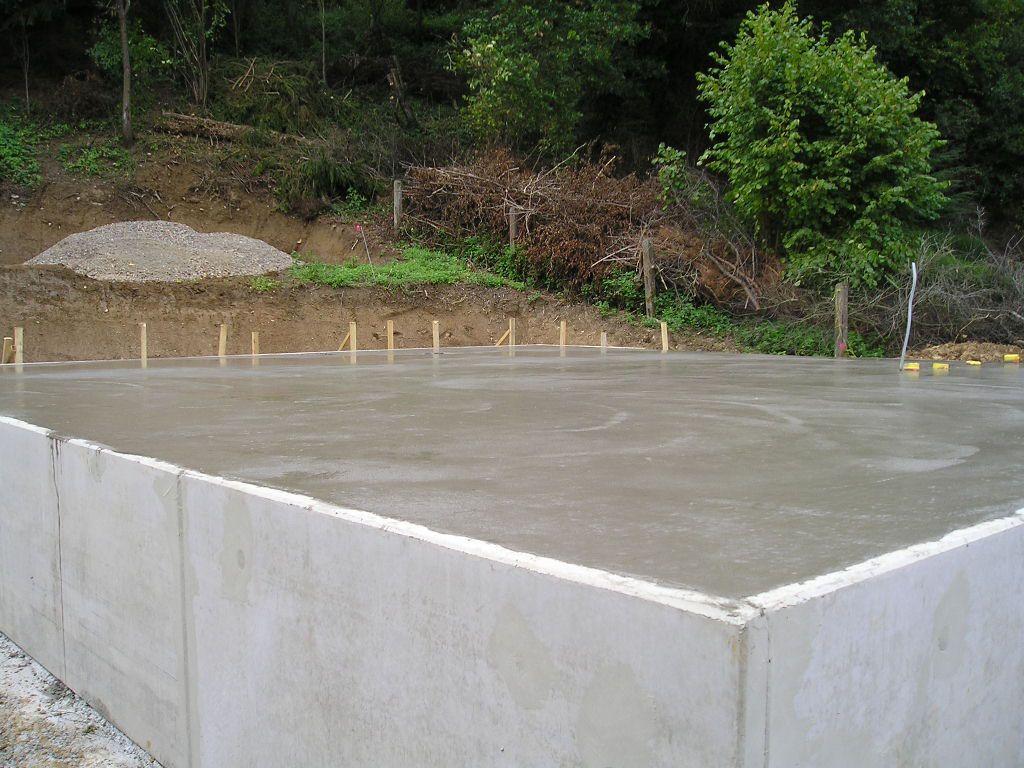 Eine Bodenplatte